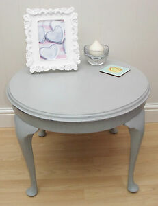 Hand Painted Queen Anne Antique Round Side Occasional Coffee Table Vintage Chic Ebay