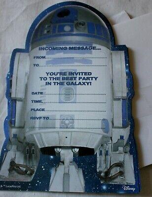 15 x Star Wars R2D2 Hallmark party invitations & envelopes