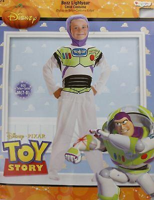 Buzz Light Year Dress Up (Buzz Lightyear Child Costume Size M(7-8) Dress Up Toy Story)