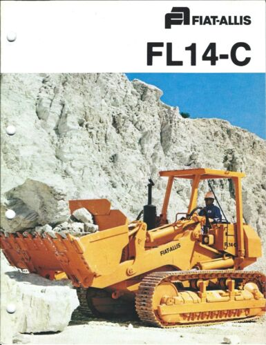 Equipment Brochure - Fiat-Allis - FL14-C Crawler Loader - 2 items c1979 (E4082)