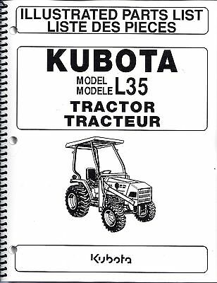 Kubota L35tl720bt900 Tractorloaderbackhoeillustrated Parts Manuals 3pc Set
