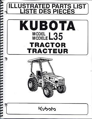 Kubota L35tl720bt900 Tractorloaderbackhoeillustrated Parts Manuals 3pc Set