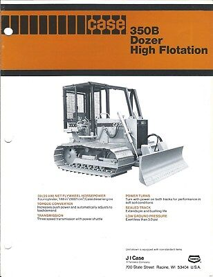 Equipment Brochure - Case - 350b - Dozer - High Flotation - C1979 E4118
