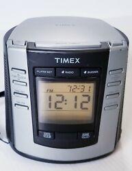 Timex Auto-Set Dual Alarm Digital Clock Radio AM/FM T301B USED