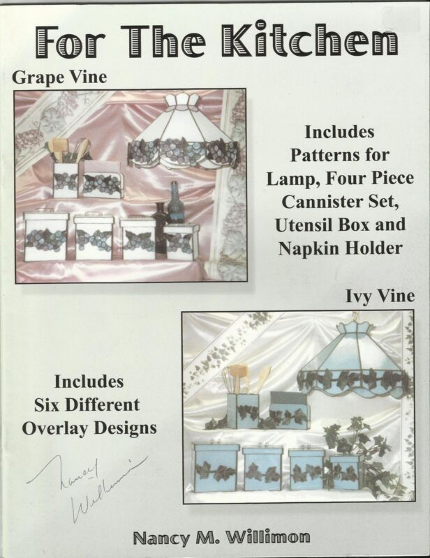 FOR THE KITCHEN Stained Glass Pattern Book Nancy M Willimon Signed Copy