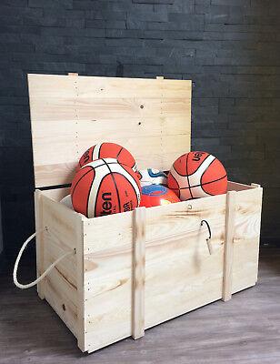 *neu* Holzkiste Holzbox Truhe Box Lederscharniere Geschenkverpackung LW0903