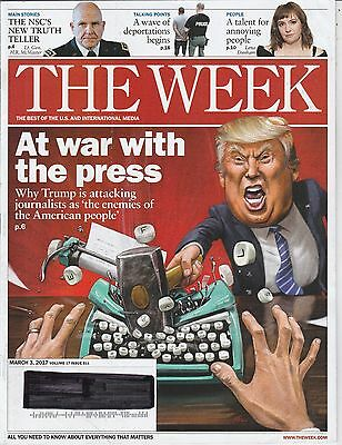 MARCH 3 2017 THE WEEK magazine DONALD TRUMP _ WAR WITH THE PRESS