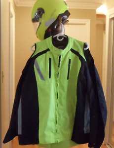 Motorcycle Jacket, Helmet and Gloves-never worn