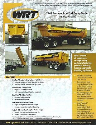 Equipment Brochure - Wrt- Tr40 - Tandem Axle End Dump Trailer - 2014 E4715