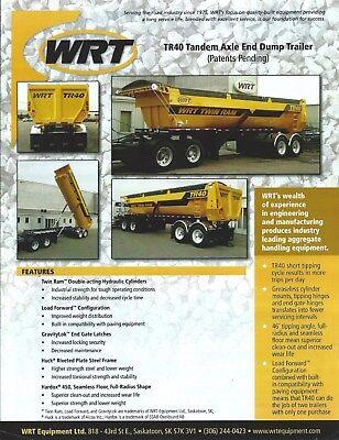 Equipment Brochure - Wrt- Tr40 - Tandem Axle End Dump Trailer - 2014 E4715