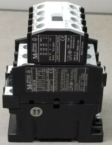 Moeller DIL0AM Contactor W/ Moeller 31 DIL M Auxiliary Contact Block.