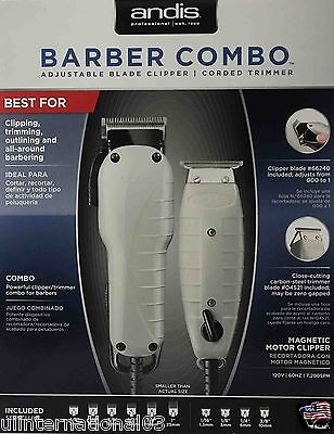 - ANDIS BARBER COMBO PROFESSIONAL CLIPPER & T-OUTLINER TRIMMER PRO COMBO KIT