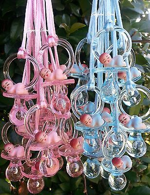 Plastic Pacifier Favors (Pacifier Necklaces With Plastic Baby Baby Shower Game Favors Prizes U Pick)