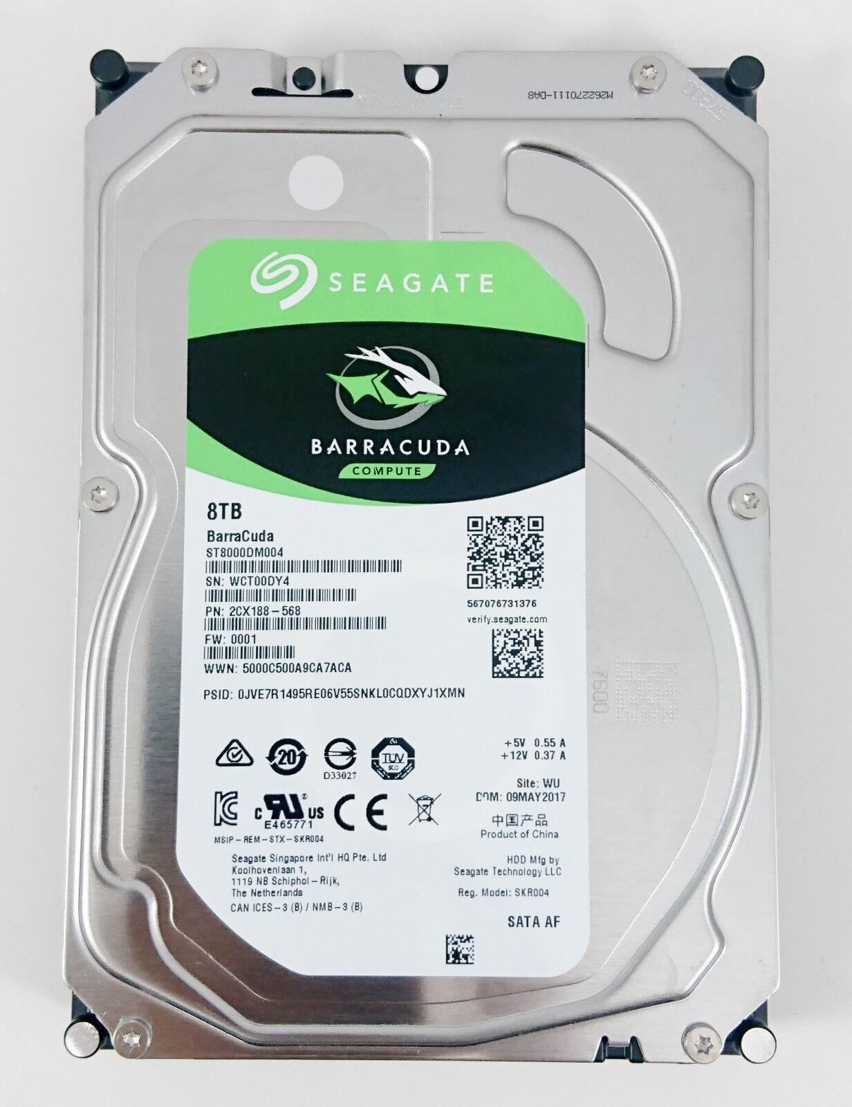 "Seagate Barracuda ST8000DM004 8 TB 7200RPM 256M 3.5"" SATA Desktop Hard Drive"