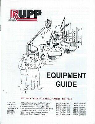 Equipment Brochure - Rupp - Construction Rental Guide - C1993 E6337