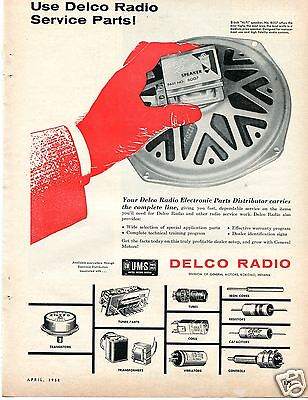 1958 Gm Ums United Motors System Delco Radio Speaker Magazine Ad