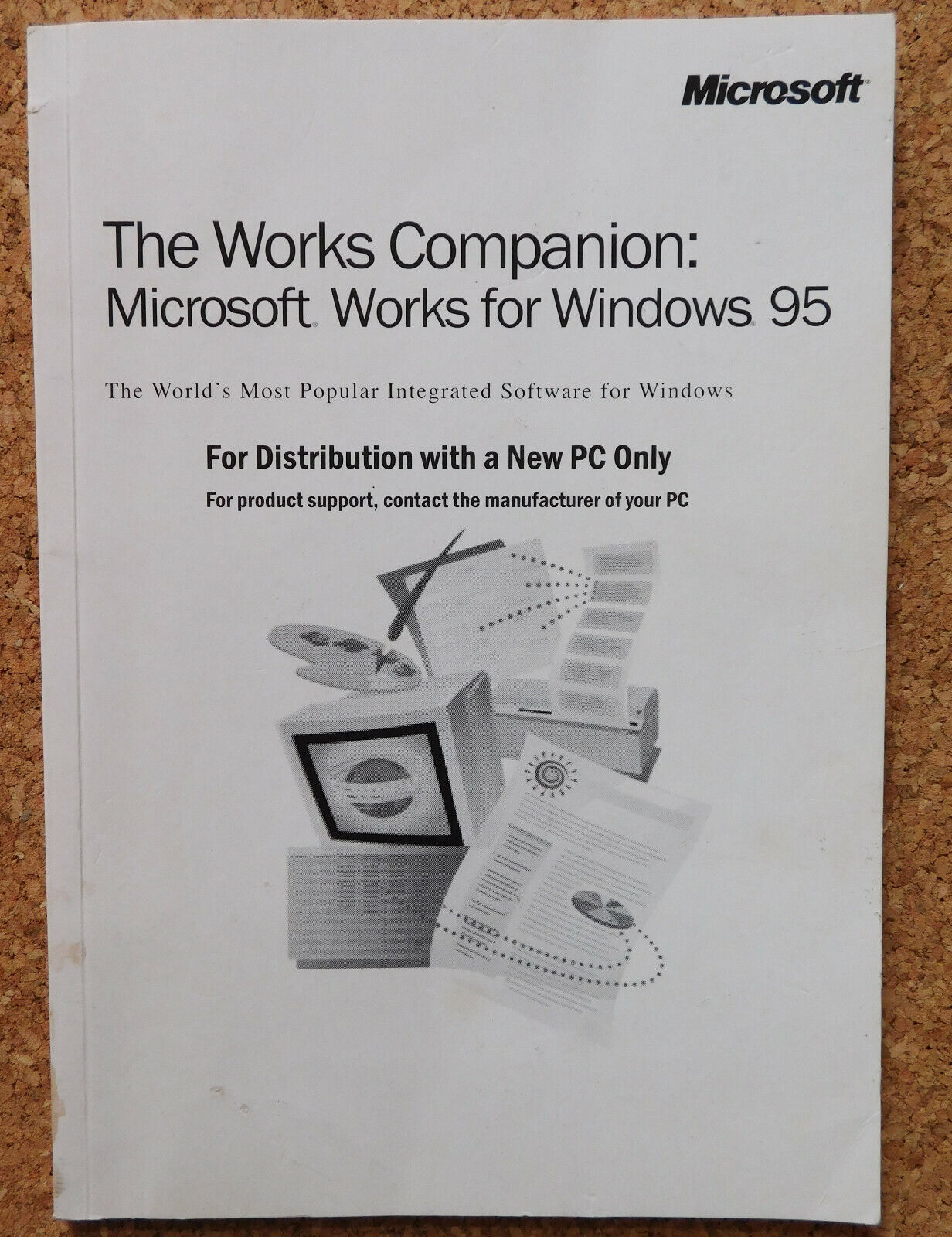 The Works Companion Microsoft Works for Windows 95 computer PC book manual
