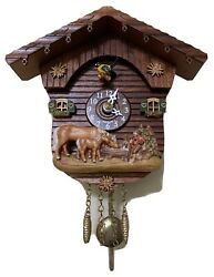 Kuckulino Black Forest Clock Swiss House Cuckoo Clock