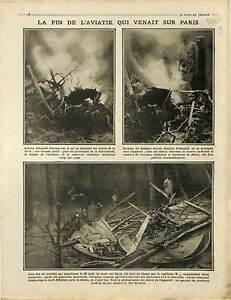 """Paris Aircraft Avion Aviatik Luftstreitkräfte Forêt d'Hallate Senlis 1915 WWI - France - Commentaires du vendeur : """"OCCASION"""" - France"""
