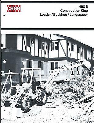 Equipment Brochure - Case - 480b - Construction King Loader Et Al C1974 E3401