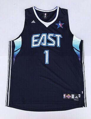 Allen Iverson Rare 2009 NBA East All-Star Jersey Pistons Size 2XL +2 Length Game