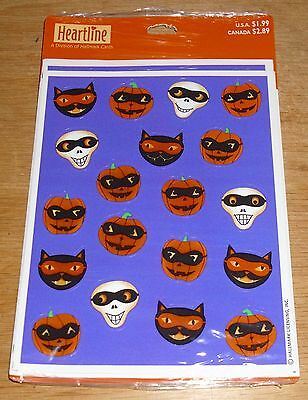 Hallmark Reward Stickers Halloween Skull Cat Pumpkin Masks NIP Free Ship at - Halloween Cat Mask Craft
