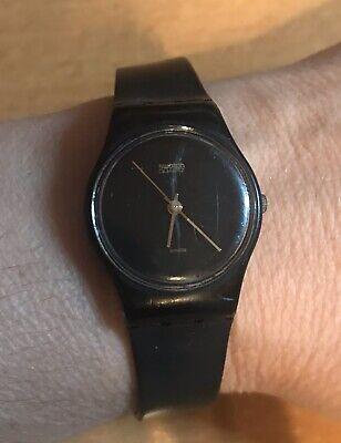 Ladies Vintage Swatch Watch Black Magic LB106