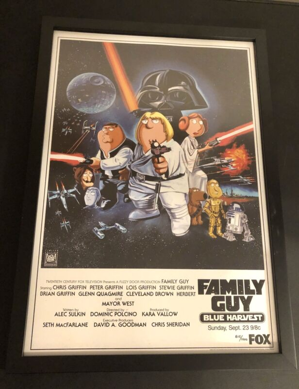 Family Guy Limited Edition Poster From Blue Harvest And 20th Century Fox Framed