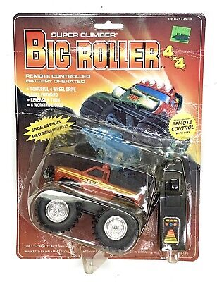 Rare 1985 Soma Super Climber Big Roller Battery Operated Remote Controlled Truck