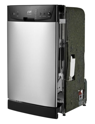 "SPT 18"" Front Control Built-In Dishwasher with Stainless Steel Tub Stainless Steel SD-9252SS"