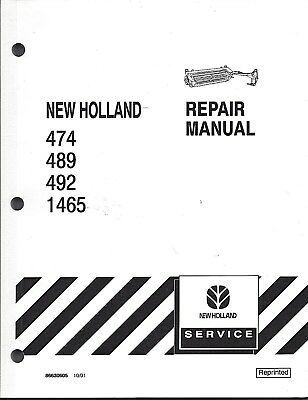 New Holland 4744894921465 Haybine Repair Manual 86630605