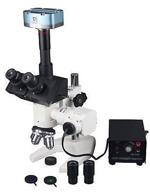 Radical 1200x Trinocular Metallurgy Microscope W 10mp Usb Camera Measuring ...