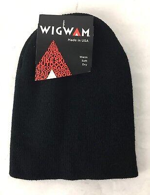 be0034e396e Unisex WIGWAM MILLS Black Winter Snow Ski Hat Cap Beanie Thinsulate