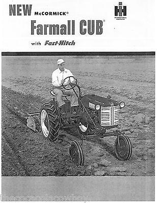 Farmall Cub With Fast Hitch Sales Brochure Manual