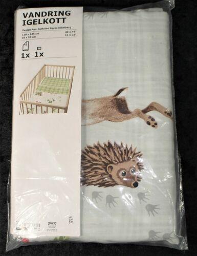 Ikea Vandring Igelkott Baby Crib Duvet Cover & Pillowcase Set - NIP