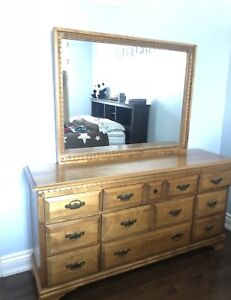 Bedroom dresser, mirror and night table