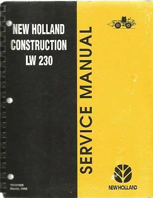 New Holland Lw 230 Wheel Loader Service Manual