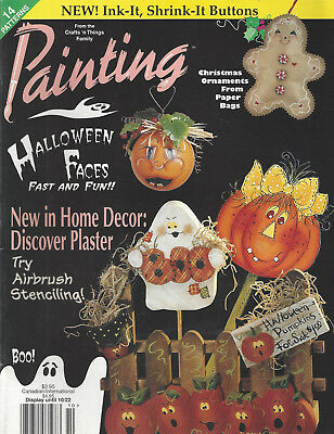 PAINTING, From the Crafts 'n Things Family (Oct 1996) Halloween Xmas ~ F817 - Family Magazine Halloween Crafts