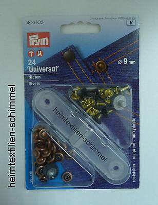 PRYM Universal Nieten Universalnieten 9mm kupfer 403102