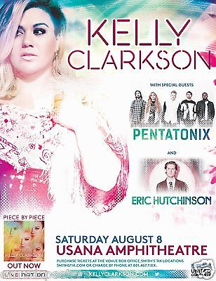 KELLY CLARKSON/PENATONIX/ERIC HUTCHINSON 2015 SALT LAKE CITY CONCERT TOUR POSTER