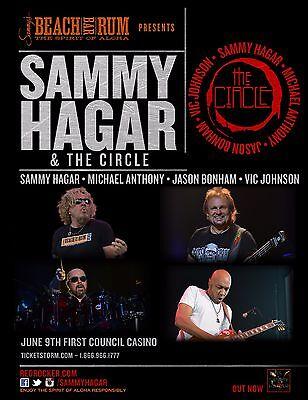 SAMMY HAGAR & THE CIRCLE 2017 OKLAHOMA CONCERT TOUR POSTER - Classic Rock Music