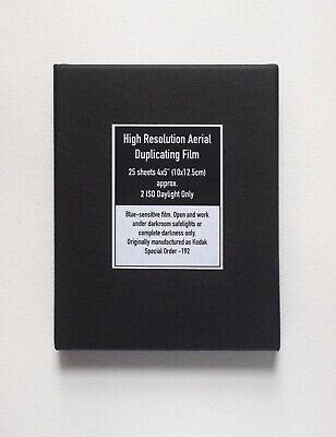 "25 Sheets Large Format Black & White Film - 4x5"", Blue-sensitive, Super-Low ISO"