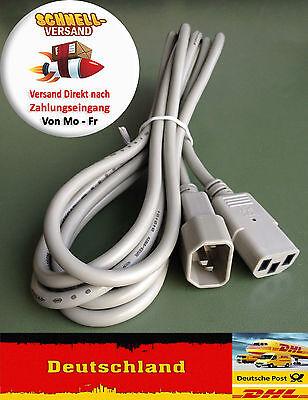 Computer Ac-netzkabel (PC Computer 3m AC Netzkabel Strom Kaltgeräte Verlängerungskabel)