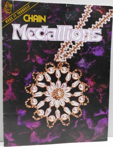 CHIN MEDALLIONS Pattern Book Jewelry Making Bead Craft 23 Pages Mangelson 1975