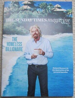 Richard Branson – Bear Grylls - Sunday Times Magazine –  1 October 2017