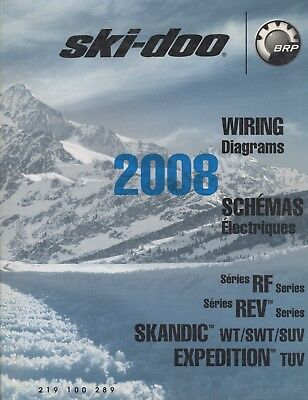 2008 ski-doo snowmobile wiring diagrams rf,rev,skandic, expedition models  (295)