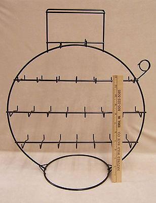 Jewelry Display Stand Rack Black Wire Round Circular Fishing Bobber Style Lodge
