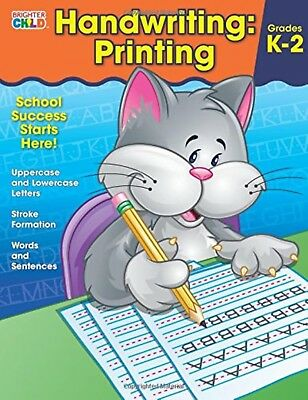Handwriting Printing Workbook Preschool Education Kids Book Writing Practice