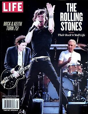 Rolling Life Stones Magazine Mick Jagger & Keith Turn 75! Rock n' Roll July 2018