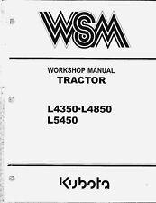 Kubota L4350 L4850 L5450 Tractor Workshop Service Manual